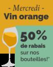 Vin orange à 50% de rabais